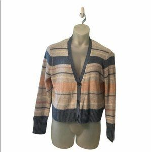 NWT American Eagle Button Front Striped Cardigan
